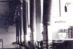 Uno dei primi impianti di aspirazione in azienda di pelletteria (Ancona)