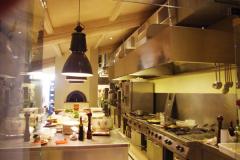 Impianto di aspirazione immissione aria cucina di noto ristorante fiorentino