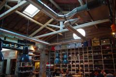 Sistema di distribuzione aria, ristorante caratteristico fiorentino