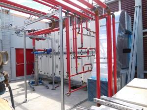 Tubazioni acqua per le CTA a servizio dei reparti sterili